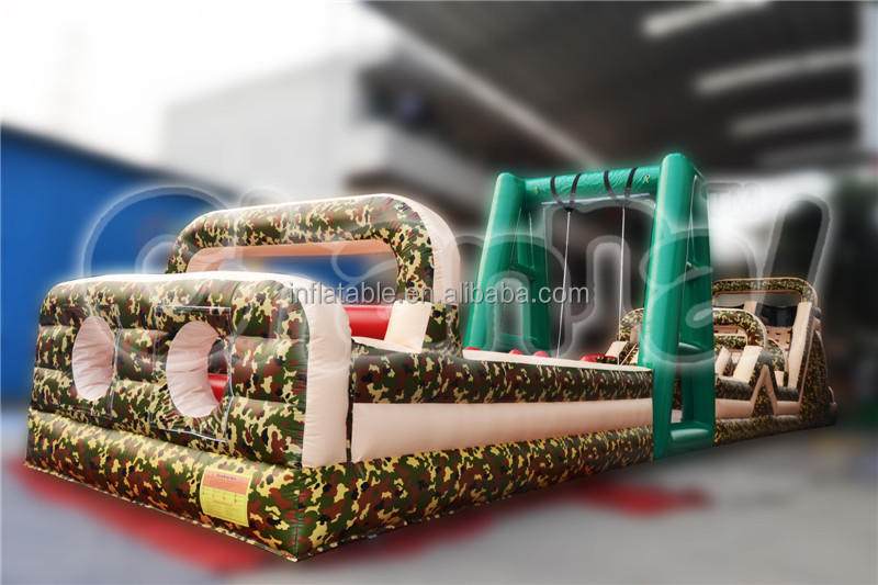 Gaint inflatable military obstacle course for outdoor