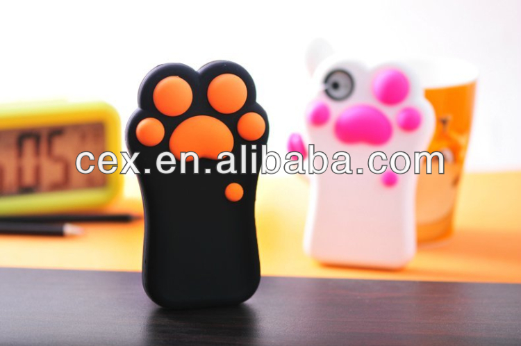 Wholesale - 3D Model Silicone Phone Case For Iphone 5 5S High Quality New Fashion 3D Cute Cat Claw Design Protection Cover