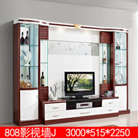 Best selling modern tv table paper surface wall mounted wood wall units
