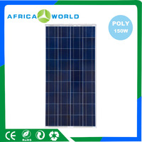 AFRICAWORLD Cheap Price 150w High Efficiency Poly Solar Panel