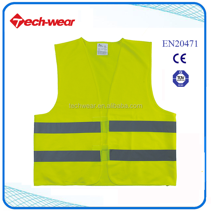 Hi Viz 100% Polyester Safety Reflective Vest
