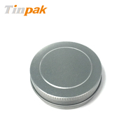 round loose power metal tin cosmetic boxes