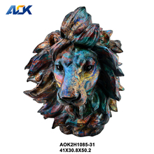 Modern Home Indoor Accessories Lion Animal Head Wall Decoration