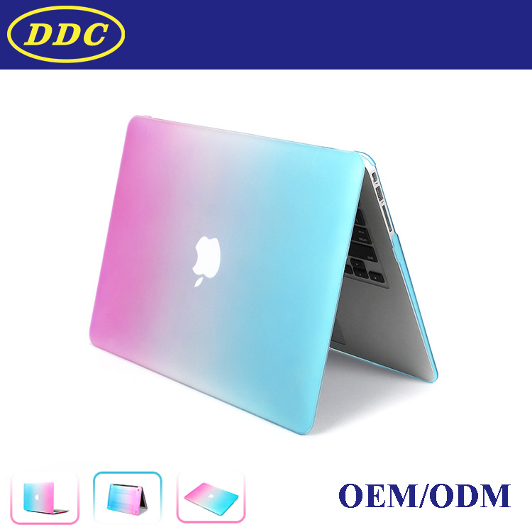 Rainbow colorful smart case cover for Macbook Pro 13.3''