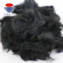 Wholesale Color Black Scrap Regenerated Polyester Fiber