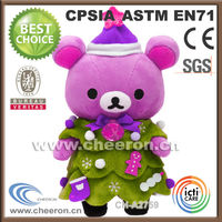 Christmas gifts ideas plush toy christmas teddy bear with tree
