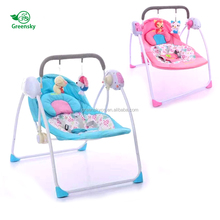 High quality promotional designer baby stroller animal rocking chair electric baby rocker with 3-point harness system