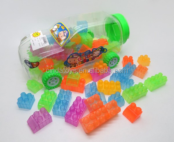 New plastic Transparent blocks educational toy,magical intellect bricks toys for 2016
