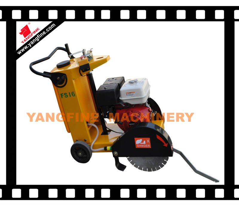 High performance single blade concrete floor cutter