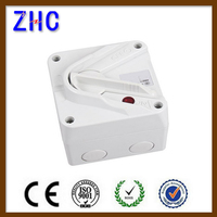 waterproof electric power isolator switch socket time delay