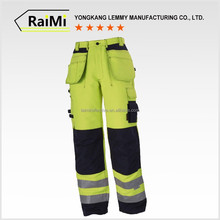 Custom hot sale fluorescent yellow reflective work pants