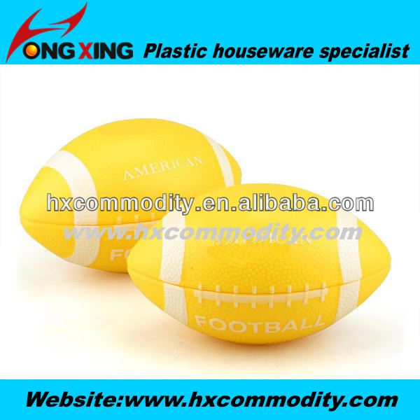 plastic american football shape bowl