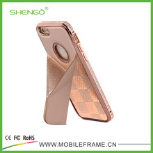 Shengo Crystal Stand PU Leather Cell Phone Cases for iPhone 5G