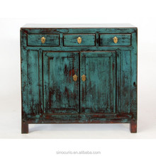 Chinese wooden antique furniture distressed wood storage cabinet