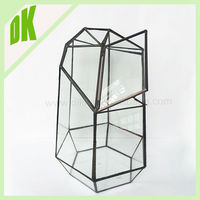 // Planter Pots, Sacred Geometry Terrarium Ideas // geometric tall clear glass hanging candle holder wholesale candle