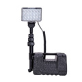 Upgraded 72W led field light with light tower portable temporary construction light