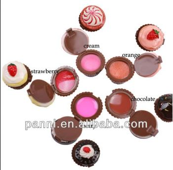Colourful cupcake case lip balm with Vitamin E & SPF