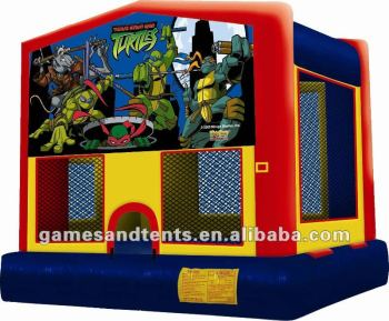 ninja turtle inflatable jumper with hooks & loops fastener art panel A2005