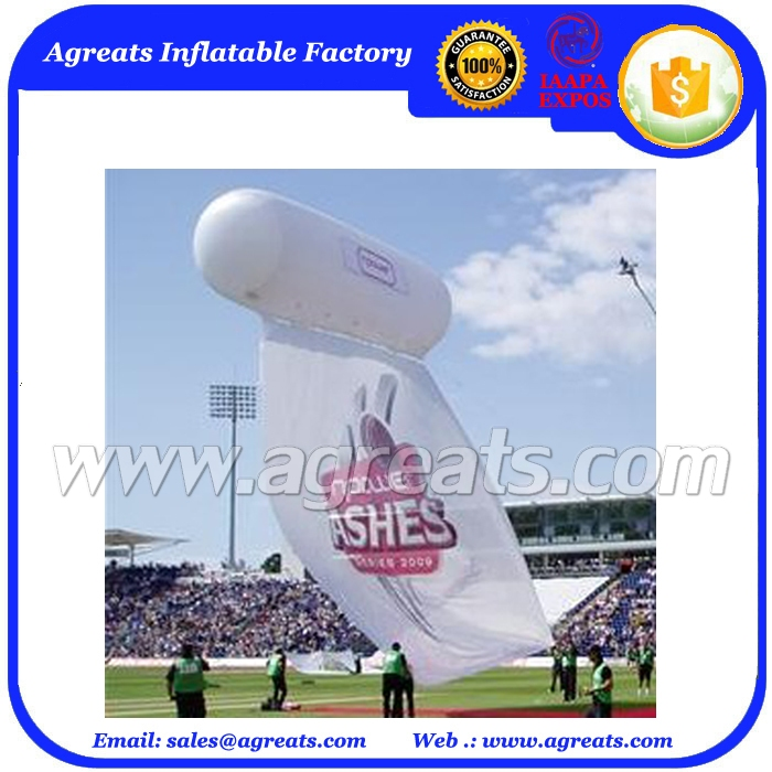 Inflatable Helium Cylinder Balloon Hanging for Sport Event S3048