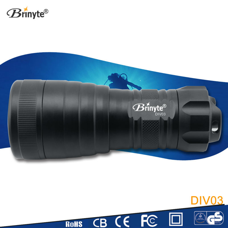 Brinyte DIV03 High Power Cree <strong>Led</strong> Professional Flashlight Diving