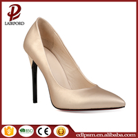 Free sample China wholesale 2016 new design golden or black color stiletto high heel shoes for women