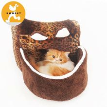 New design leopard small dog houses and luxury cat bed wholesale