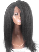 7A Cheap European Yaki Glueless Full Lace Human Hair Wigs For Black Women, virgin Remy Lace Front Wigs Fast Shipping
