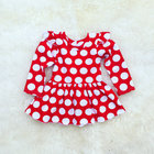 wholesale red polka dot ruffle little girls boutique clothing for fall winter