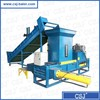 hydraulic rice hull baler bagging machine