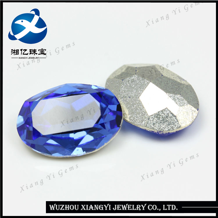 New Design High Quality Large 15*20mm Oval Cut Electrosilvering Fashion Rough Tanzanite Gemstones Wholesale Jewelry