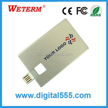 bulk cheap business Card type USB flash drive 1gb, 2gb, 4gb, 8gb, 16gb, 32gb,64gb Plastic Visiting Card