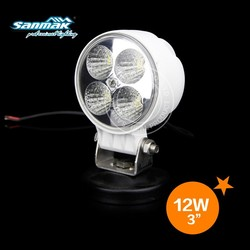 Small size white black color epistar 3w high power led motor truck work lamp
