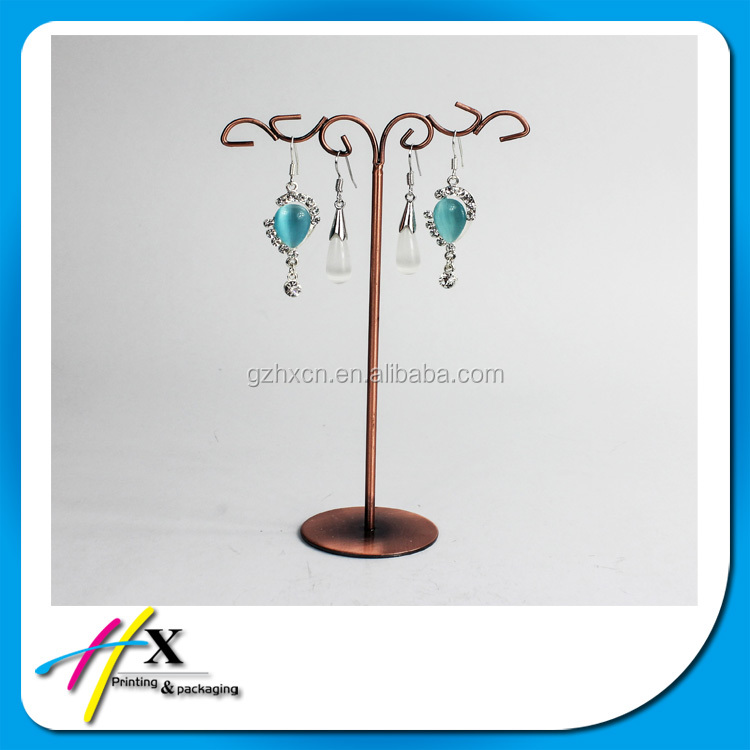 Fashion factory made earrings jewelry display shelf