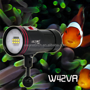 5200 lumen scuba diving video light ARCHON W42VR with UV ,red ,purple light