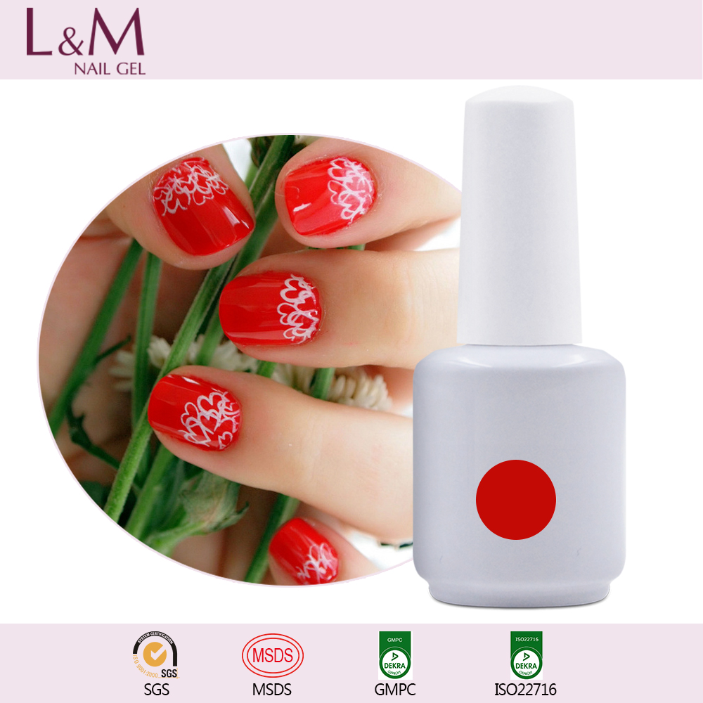 Guangzhou factory uv gel polish bottle 15ml for nails free samples