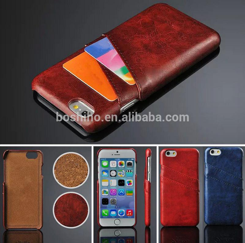 Top Quality PU Leather Skin With Card Holder Back Cover Case for iPhone 5 5s 6 Plus