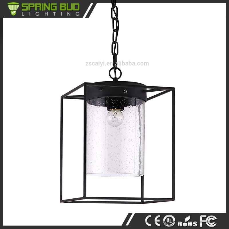 Rural northern American decorative restaurant rain bubble shaped vintage glass suspension lighting