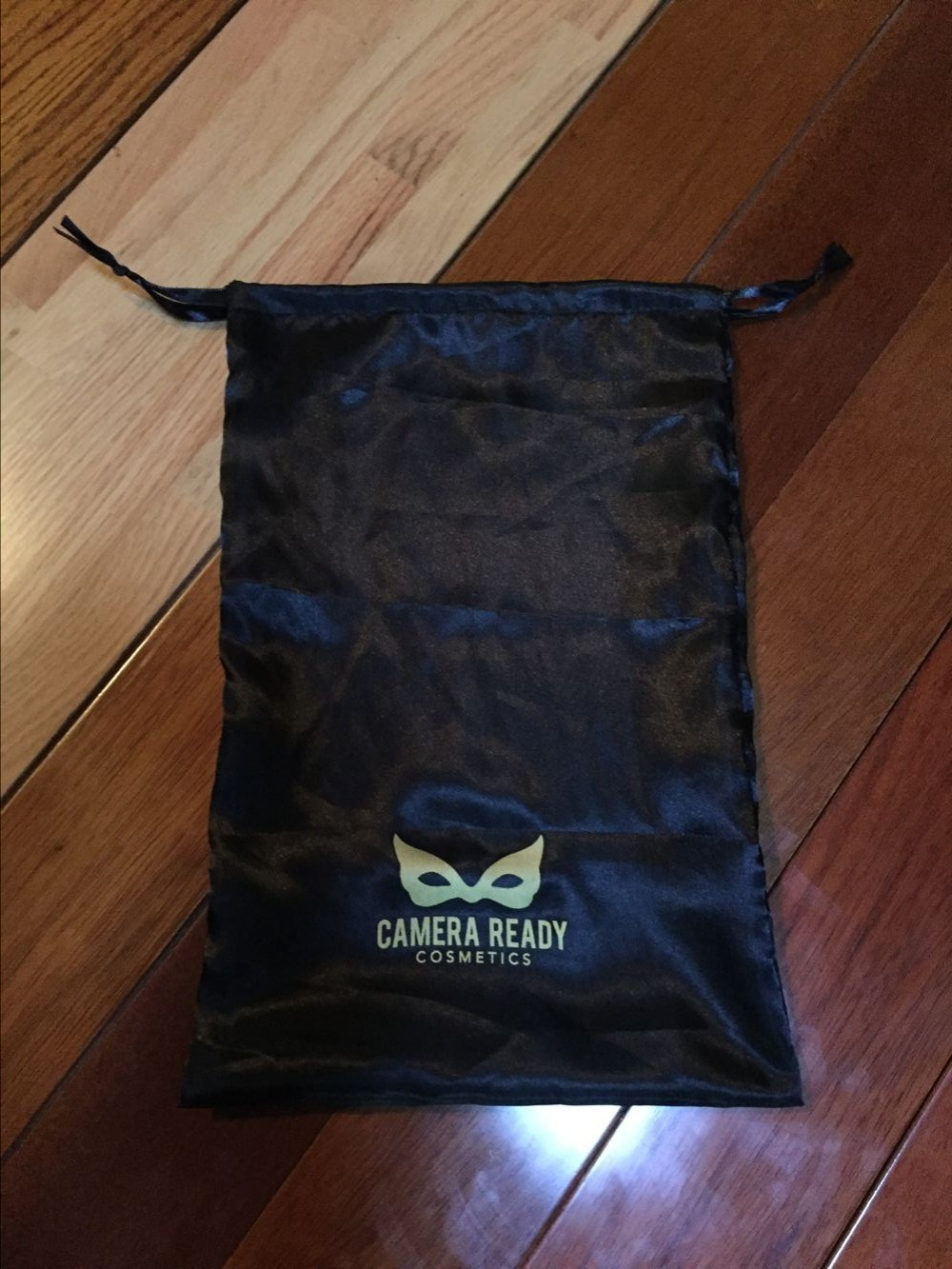 High Quality Custom black soft drawstring satin dust bags With gold screen printing