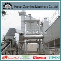 ZAP-S120 asphalt mixing plant with bag house dust filter