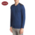 Autumn shoulder leather patch round collar long sleeve knitted pullover sweater for men
