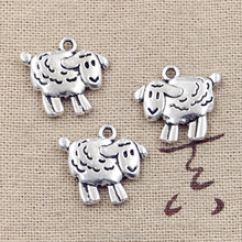 Sheep charms antique Tibetan silver lamb charm pendants