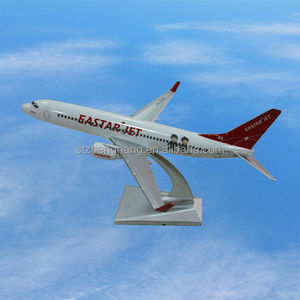 1 250 scale 16cm resin Boeing 737-800 plane model aircraft with stand Eastar Jet customized gift