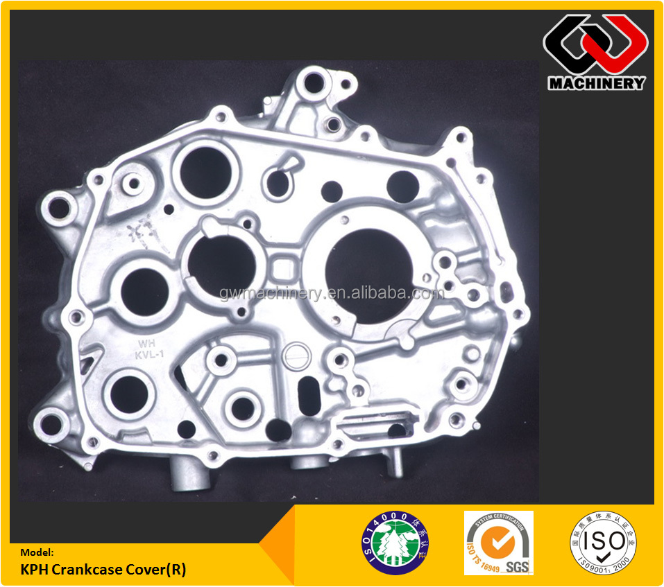 Precision CNC Machined Motorcycle Engine parts Crankcase KPH Crankcase Cover R Aluminum die casting