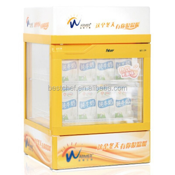 Table top electric beverage display warmer beverage display showcase