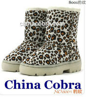 CHINA COBRA best sold top quality soft rubber sole leather children boots (top quality)