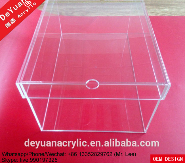 Clear acrylic man shoe sneaker boxes with lid