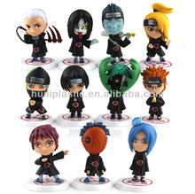naruto mini figures;pvc naruto mini figures;plastic naruto mini figures