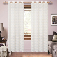 Bamboo Sheer Curtain For Living Room,Faux Linen Sheer Curtain For Living Room,Striped Sheer Curtain For Living Room