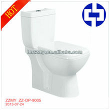 2013 New Ceramic Sanitary Ware Toilet Design ZZ-OP-9005 Two Piece WC Toilet For Basthroom