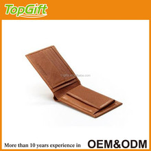 man leather wallet in dark brown colour